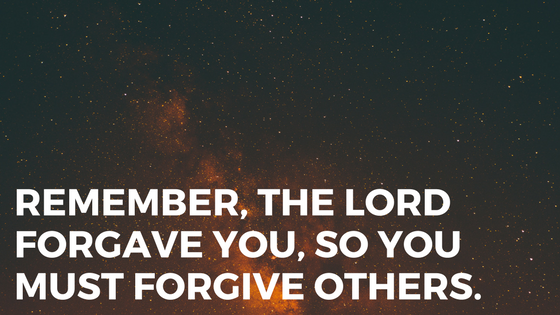 FORGIVENESS – Jesus Demands It, How Are We Doing? – by Jim Nelson